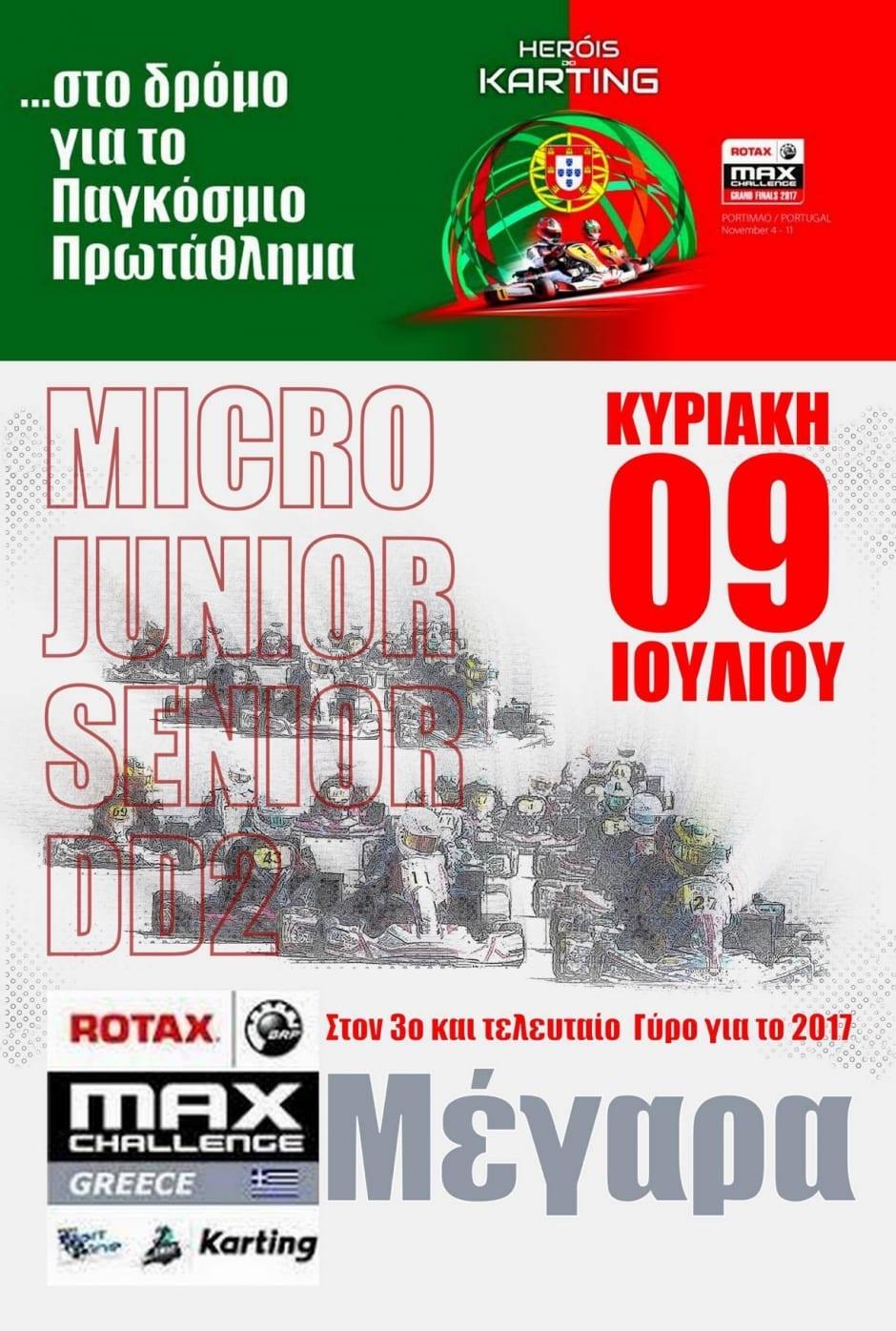 3ος Γύρος Rotax Max Challenge 2017: Συμμετοχές